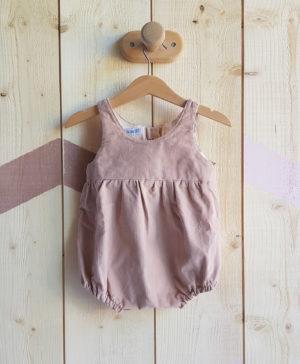 barboteuse bébé velour rose chaude vetement fille bilboquet
