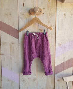 sarouel bebe vetement enfant lyon pantalon hiver gaze violet rose fille automne
