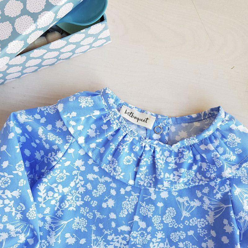 blouse chemisier haut bebe fille bleu lyon vetement