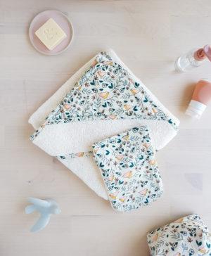 cape de bain bébé bebe accessoire naissance fille oiseau france lyon createur creation