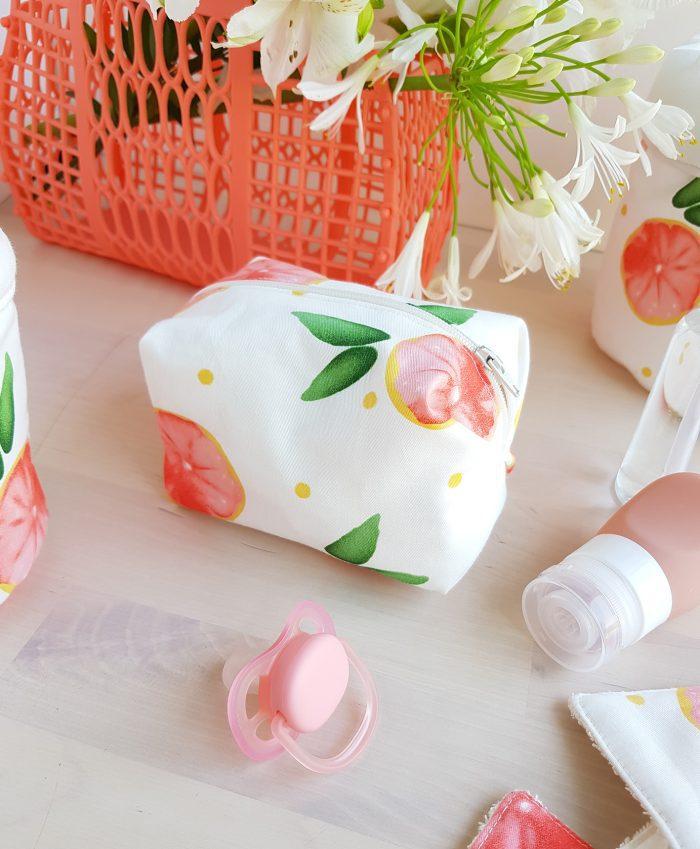 trousse de toilette cadeau naissance accessoire bebe lyon createur france pamplemousse