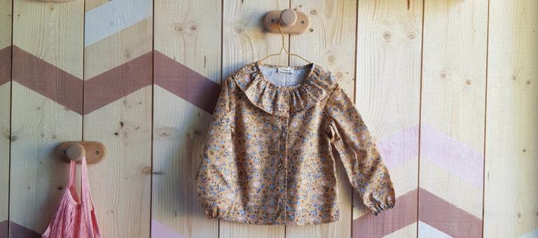 vetement bebe fille lyon createur blouse manches longues haut chemise chemisier