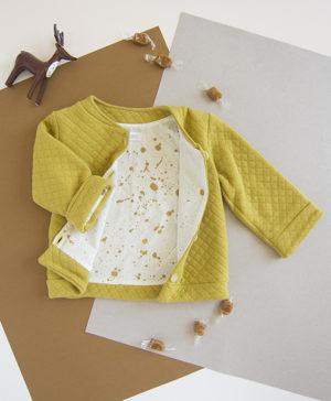 vetement bebe enfant garcon lyon veste jaune matelassee cadeau france francaise bilboquet