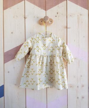 bio biologique coton robe vetement bebe fille fleur bio createur lyon cadeau