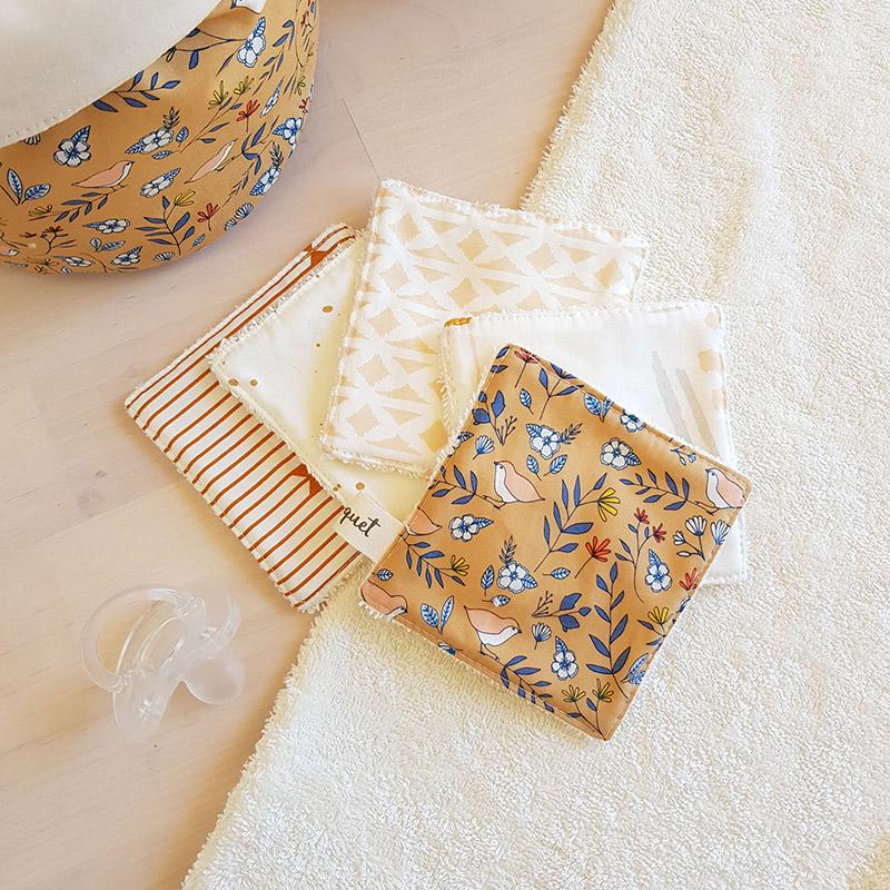 cadeau naissance bebe famille ecolo zero dechet idee original lingette coton lavable