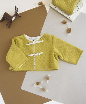 veste matelassée bébé cadeau naissance tenue noel hiver jaune bilboquet createur lyon