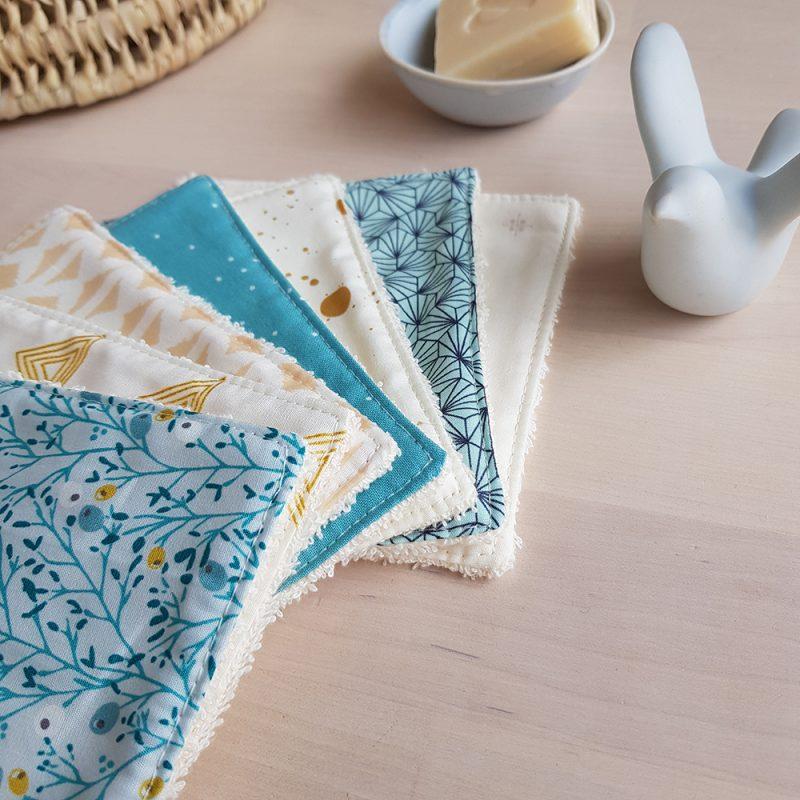 coton lavable lingette turquoise grand bebe naissance
