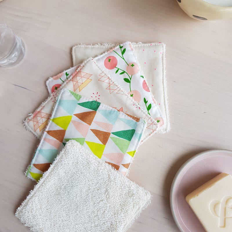 coton lavable lingette demaquillante bebe femme maman ecologique zero dechet lyon bilboquet