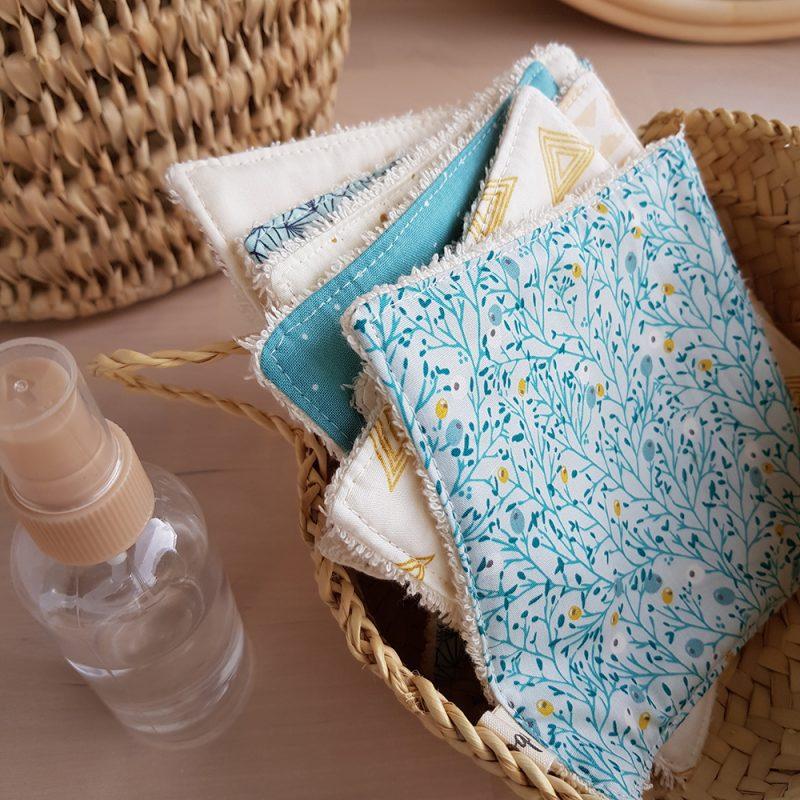 grand coton lavable reutilisable ecolo ecologique turquoise createur lyon bilboquet france
