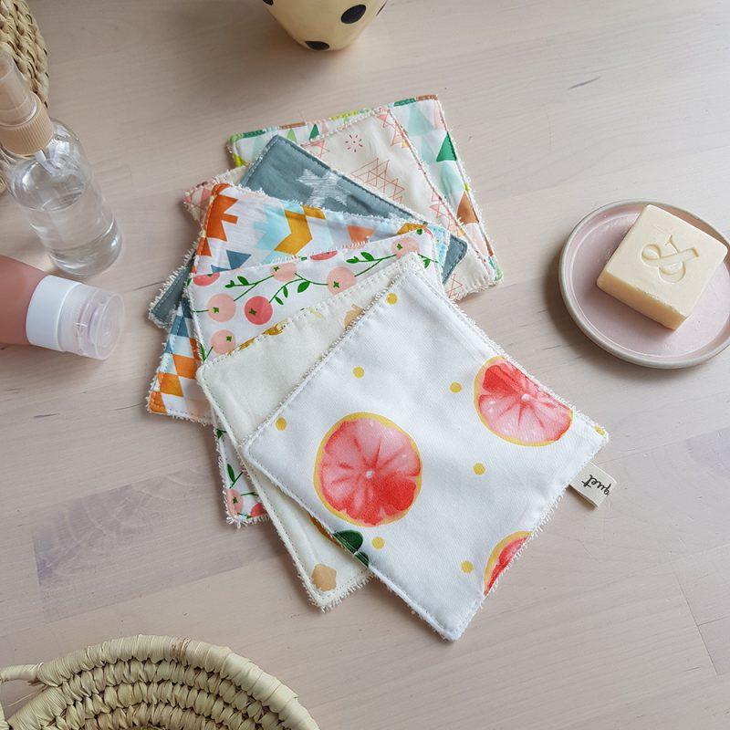 createur francais bebe enfant cotons lavable lingette demaquillante pamplemousse lyon