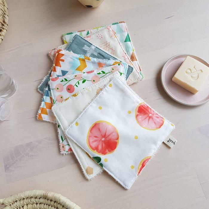 coton lavable lot carre grand change bebe couche reutilisable bilboquet createur