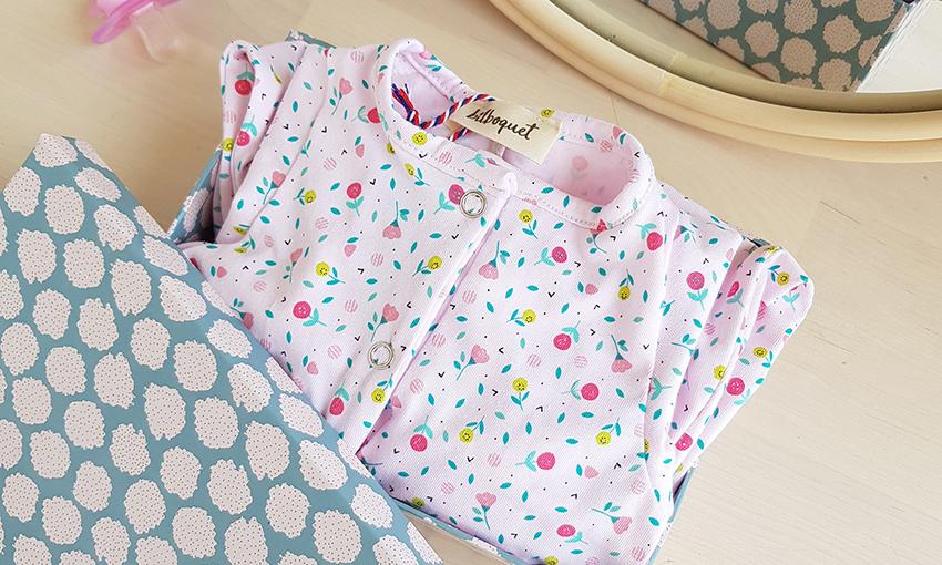 pyjama bebe fille naissance rose combinaison vetement createur lyon