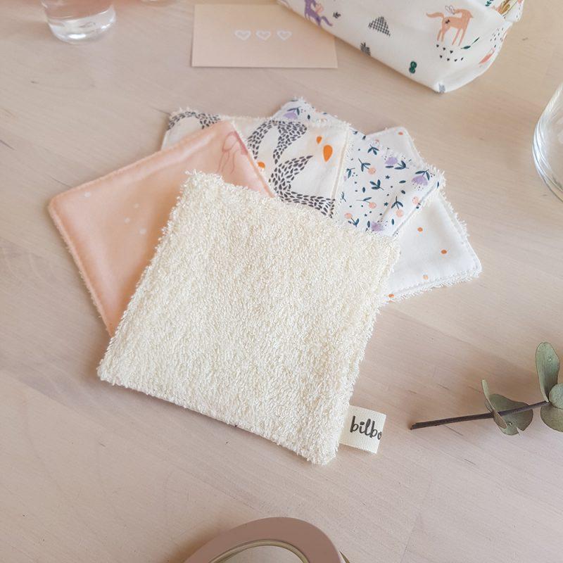 coton lavable lingette zero dechet demaquillante reutilisable geste planete cadeau ecolo bebe naissance couche licorne lyon
