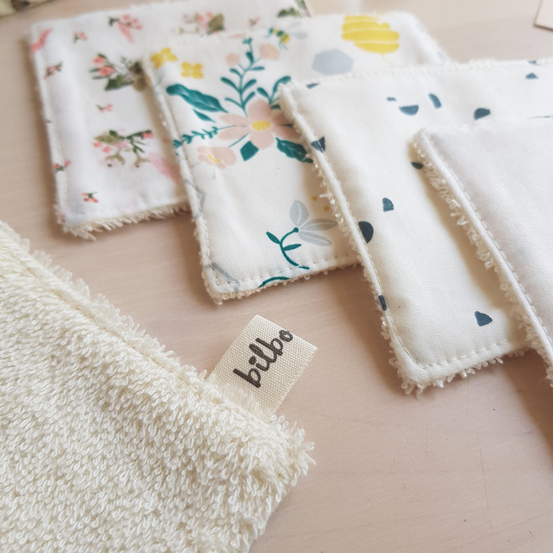 accessoires toilette cadeau naissance bebe lingette demaquillante coton debarbouillettes lyon