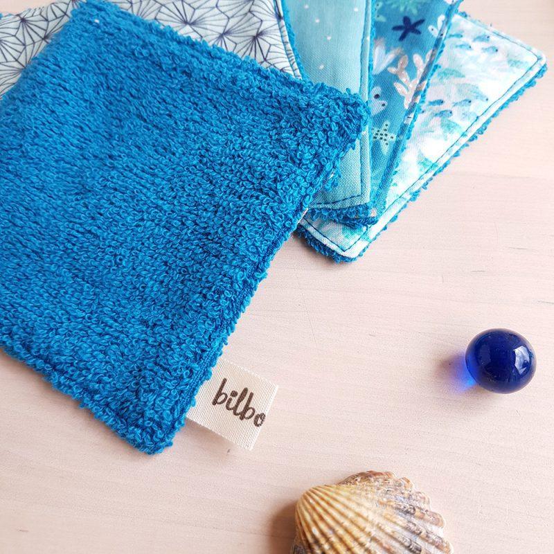 lingette lavable reutilisable naissance bleu change ecolo zero dechet lyon createur
