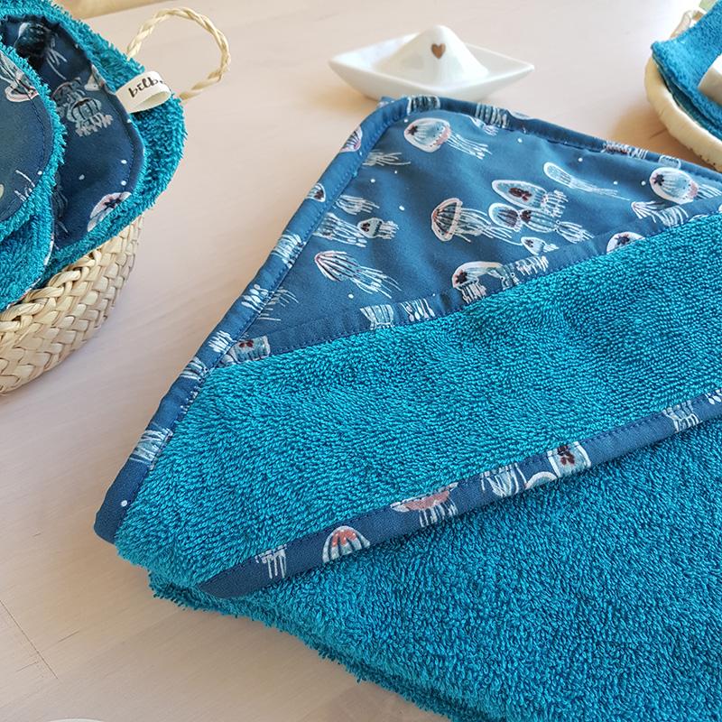 cape bain bebe bleu bateau baleine mer garcon bebe lyon createur bilboquet