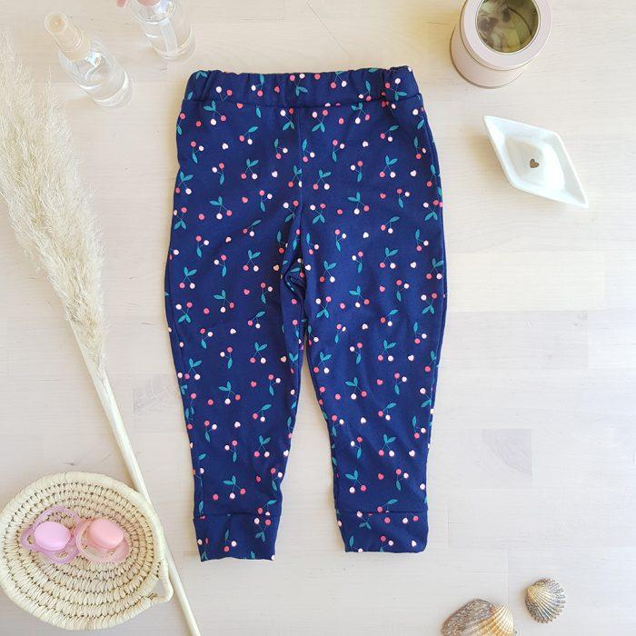legging bebe cerise bleu marine coeur pantalon vetement enfant lyon createur