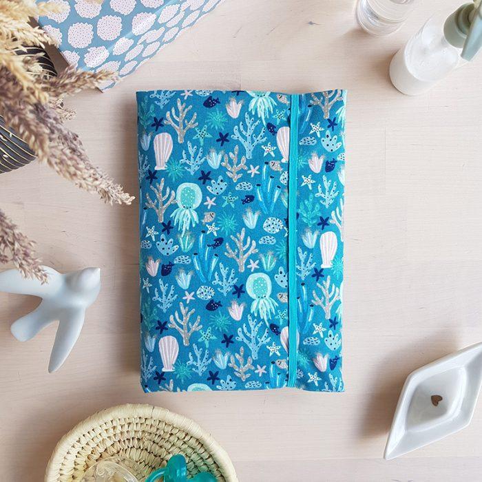 housse carnet sante bebe bleu lyon createur france garcon bilboquet