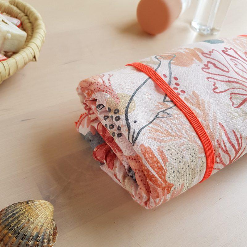 tapis a langer nomade promenade avec bebe accessoire naissance puericulture cadeau fille sirene oekotex made france lyon createur bilboquet blanc beige