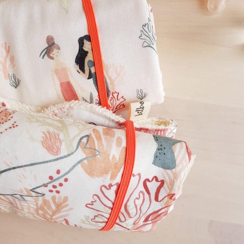 tapis a langer nomade promenade avec bebe accessoire naissance puericulture cadeau fille sirene oekotex made france lyon createur bilboquet