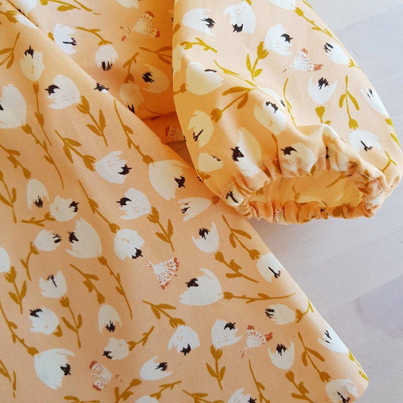 vetement bebe fille blouse coton oekotex made in france bilboquet kids createur fleur motif cadeau naissance enfant lyon