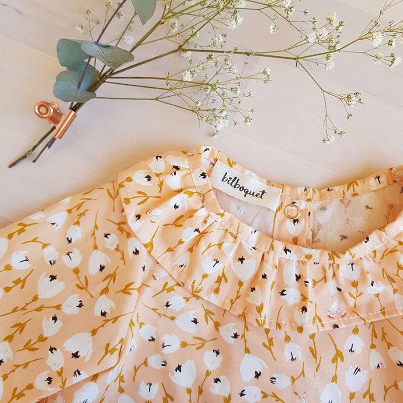 vetement bebe fille lyon blouse chemisier chemise haut oekotex mode ethique made france cadeau naissance enfant bilboquet kids
