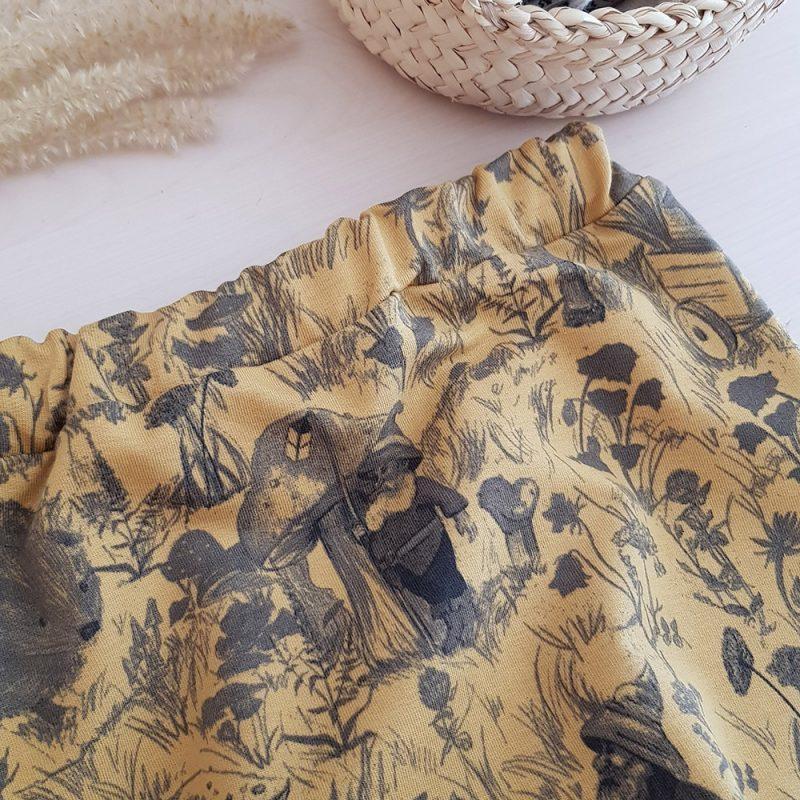 vetement bebe enfant garcon fille petite cadeau naissance made in france fabrication francaise lyon createur mode enfantine bilboquet double gaze coton pantalon sarouel jersey tricot chaud hiver jaune