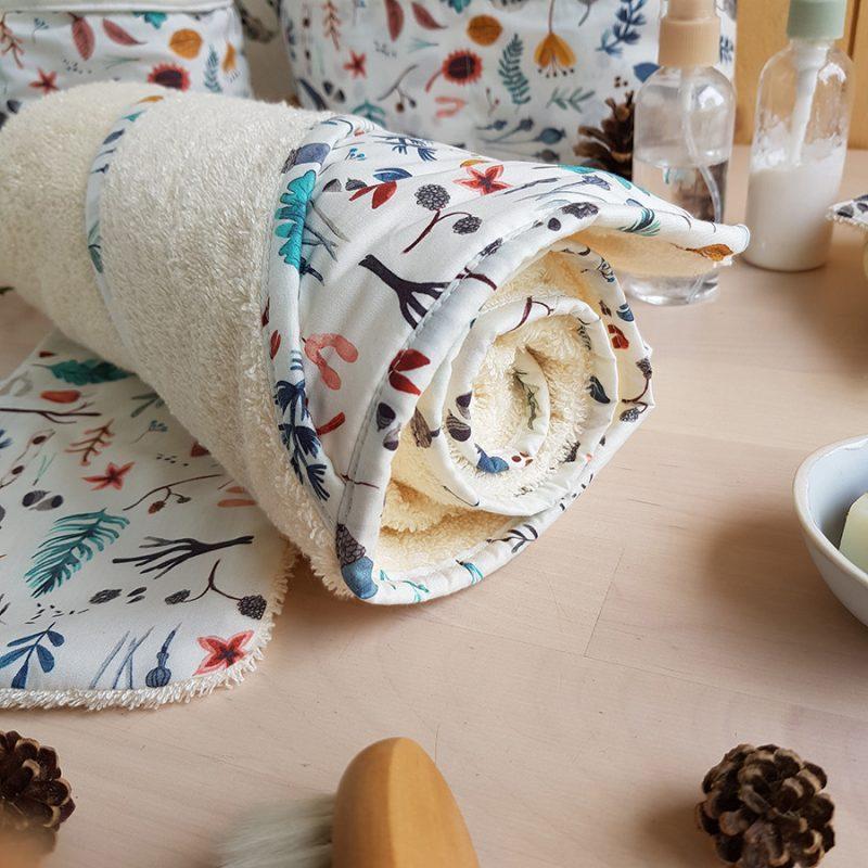 serviette bain cape sortie peignoir poncho gant