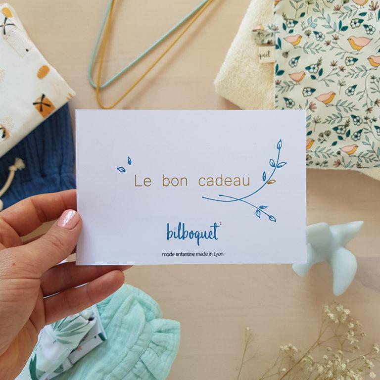 bon cadeau naissance carte bebe fille garcon accessoire toilette soin puericulture vetement idee originale lyon made france francaise lyonnaise bilboquet kids