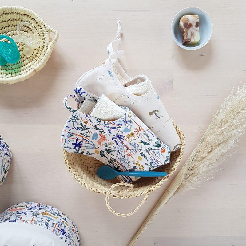 bavoir bebe naissance made in france cadeau lyon fabrication lion garcon bilboquet kids bilboquetkids beige bleu animaux createur