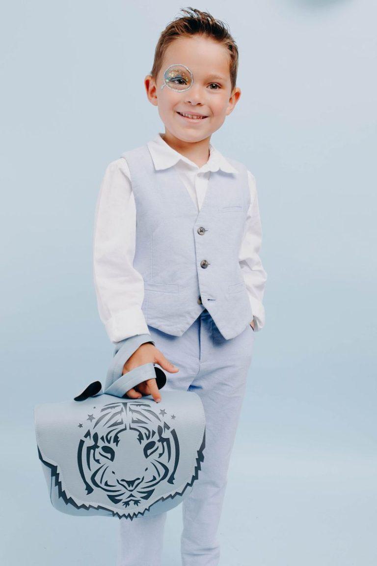 cartable enfant ecole rentre made in france fabrication francaise maternelle creche crapaud chou garcon tigre bleu